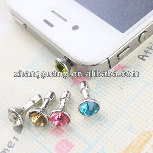 Beautiful crystal mobile phone jewelry