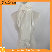 Factory Made Custom Good Quality White Silk Scarf For Dyeing