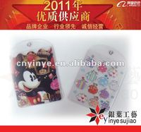 Lovely Mickey Picture Pvc Plastic Card Holder For Promotion
