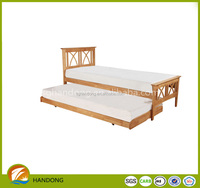 Simple Solid Pine Super Double size Foldable Double Bed
