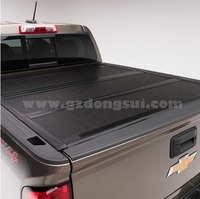 Solid Aluminum Pickup Truck Hard Tri Folding Tonneau Cover For Triton Rannger Np300