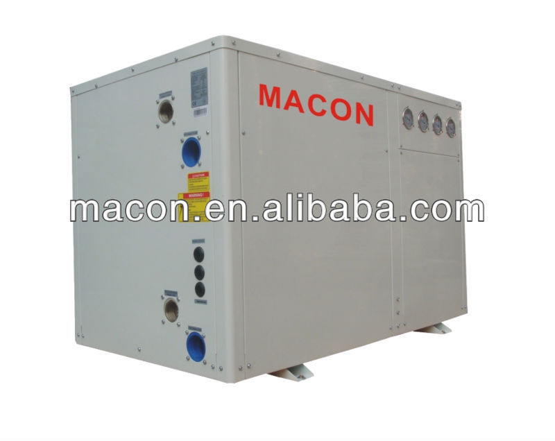 ground source pool heater heat pump cold recovery for france