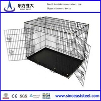 Wire Folding Pet Crate Dog Cage Easy Transport