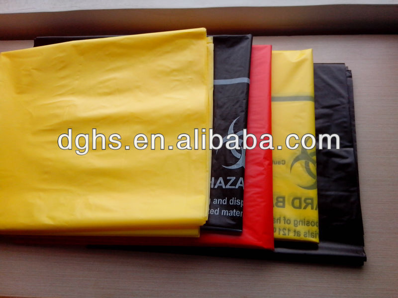 disposal of medical waste plastic disposable bagin medical/ custom medical waste bag /medical garbage bag