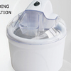 White Ice Cream Maker With Transparent