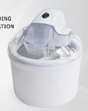 White Ice Cream Maker With Transparent Lid