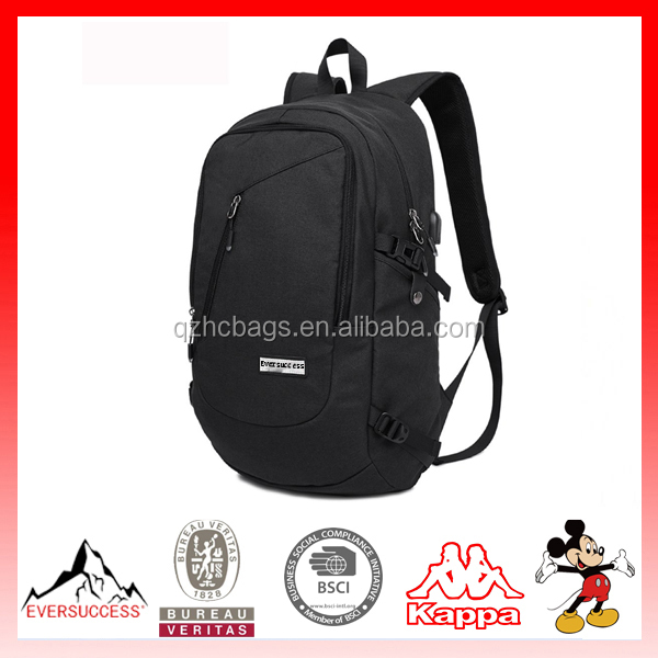 Slim Laptop Backpack 19 Inch Business Water Resistant Laptop Backpack with USB Charging Port