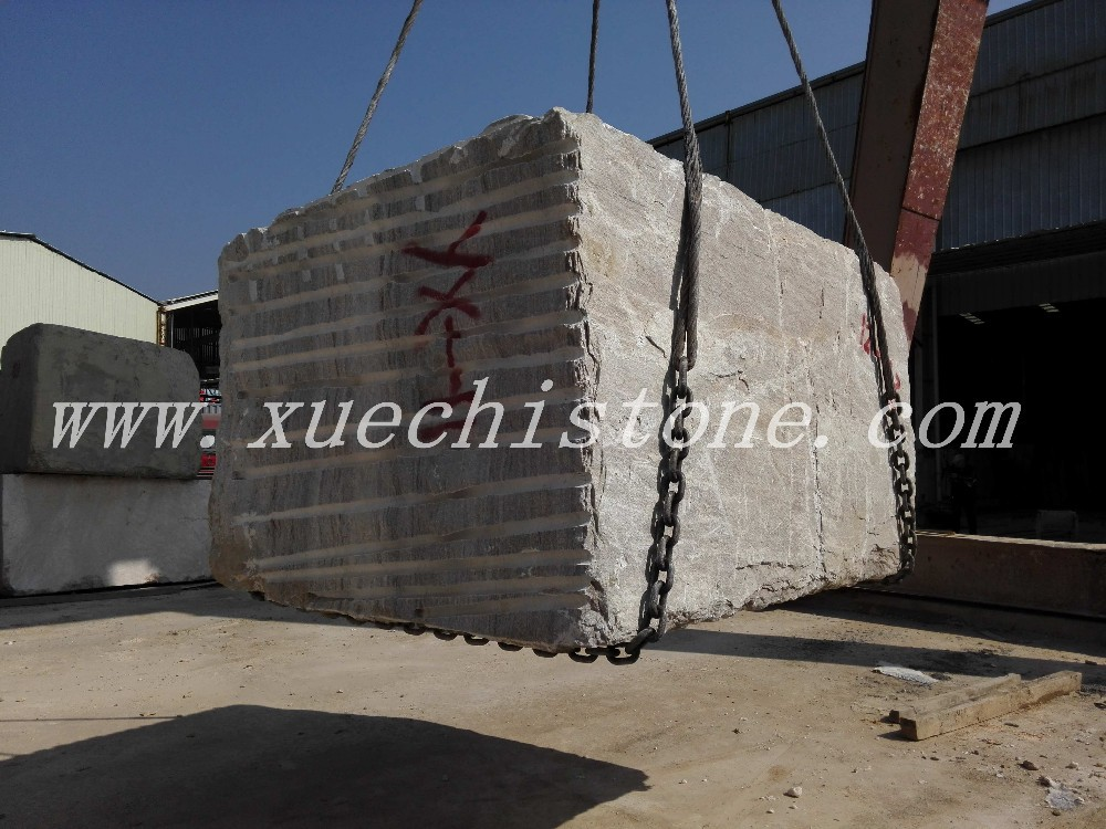 Chinese rough white crystal wood grain marble Block price