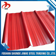 China supplier foshan zinc corrugated metal roofing sheet sizes