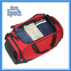 Latest big size red and black polyester duffel bag