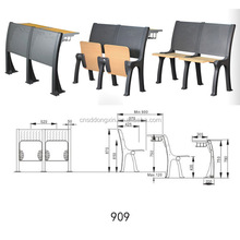 University chair and table used school furniture for sale/classroom student furniture