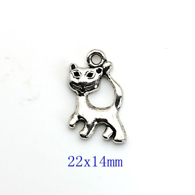 10pcs Mixed Tibetan Silver Plated Cat Soccer Tree of Life Charms Pendants Jewelry Making Accessories Bracelet Handmade Crafts