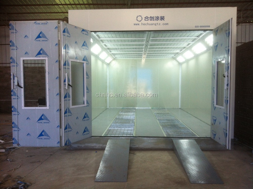 Dust free car spray painting and baking booth