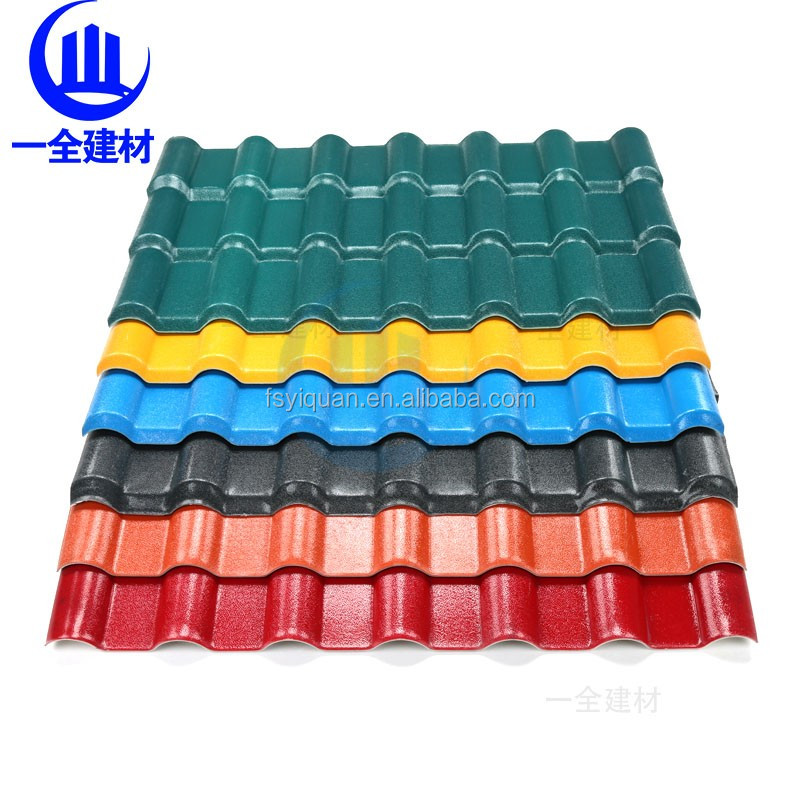 Spanish synthetic resin metal roof tile /villa tile / clean energy saving/ fire pvevention/
