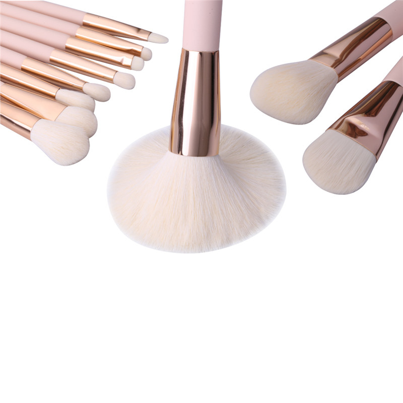 Sofeel wholesale oval cosmetic brushes natural hair rose gold Makeup Brush