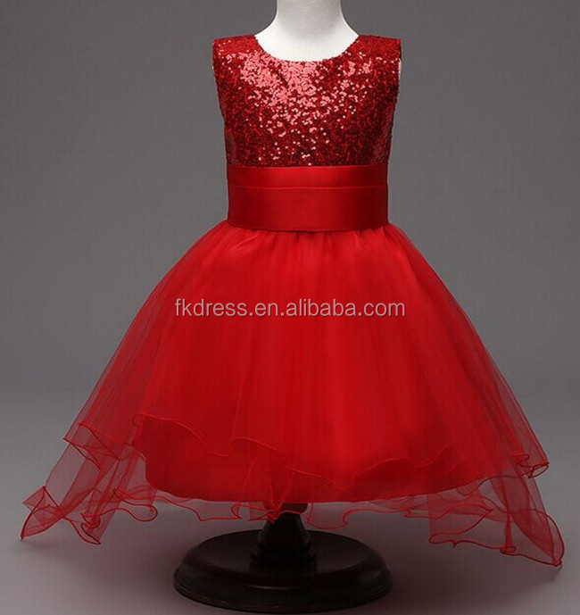 wholesale red tulle flower girl very long tail wedding dress