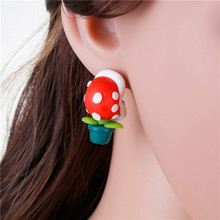 Lovely Multicolor Corpse Flower Polymer Clay 3D Ear Studs Earrings