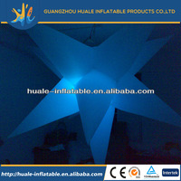Blue lighting star/inflatable star with led light /inflatable lighting star for decoration