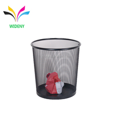 Office stationery wire mesh metal trash bin waste paper basket bin