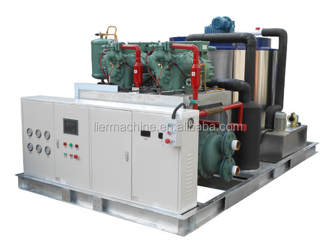 Large industrial water cooled flake ice manufacturing plant