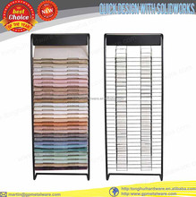 floor carpet wall display rack with optional colors