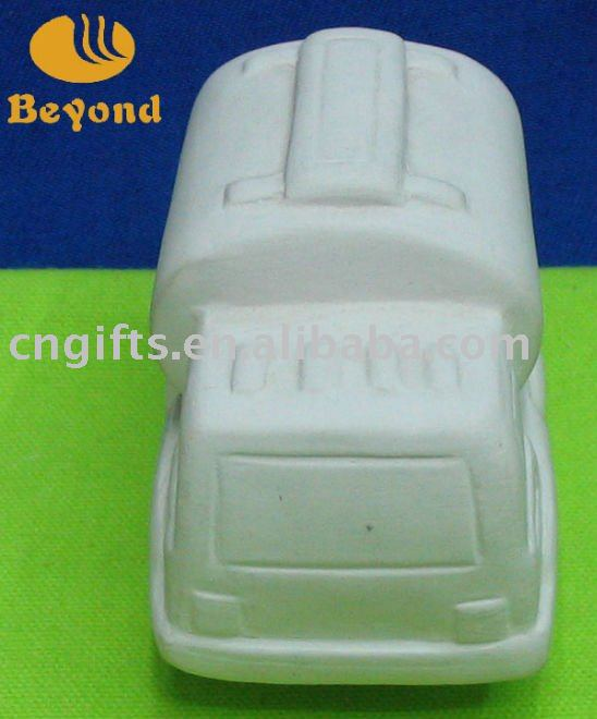 DIY ceramic product small car design by childern hand painting