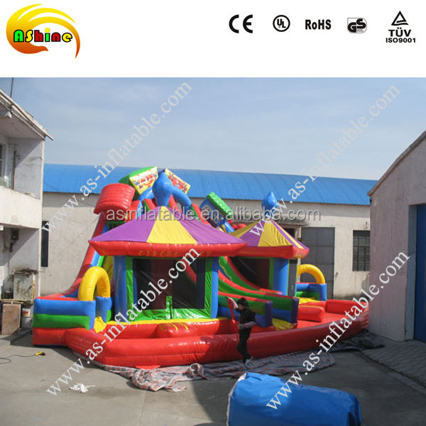 2016 giant jumper bouncer house/inflatable slide bouncy/combo castle games for kids play