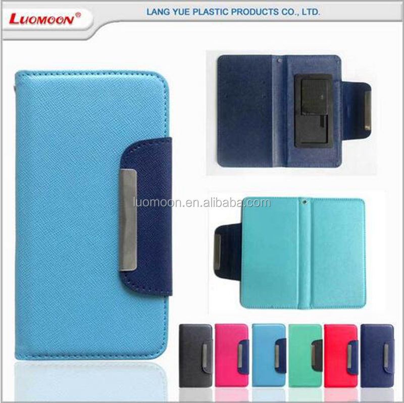 universal slide flip leather phone cover case for Wiko rainbow slide 2 fever highway pure