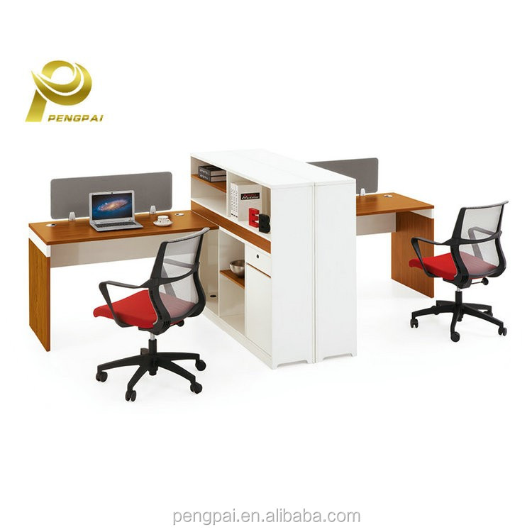 foshan office supplies two side table simple design office workstation