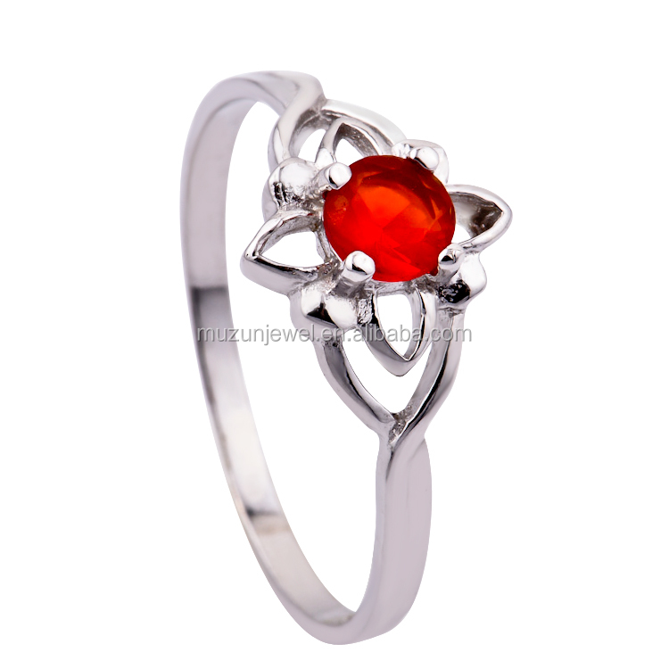 latest silver ring design 925 sterling silver red diamond engagement ring