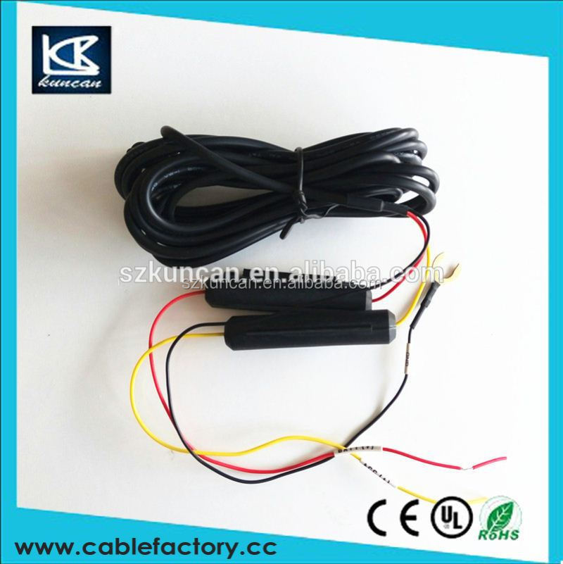 china dc power cable assembly 12v dc power cord for black box