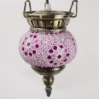 CL1R01 chandelier light handmade mosaic turkish lamps