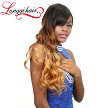 Longqi Hair New Products Real Tangle Free Two-Tone Brizillian Hair From Brazil