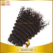 cheap price 5a grade 100 grams black color deep wave malaysian hair weave