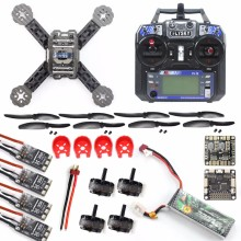 16 in 1 DIY RC FPV Drone Mini Racer Quadcopter Kit 190mm SP Racing F3 Deluxe Flight Controller Flysky FS-I6 F18893-G