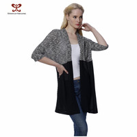 2015 Fashion Long Cardigan Spring Autumn Women Splicing Cardigan ,Kimono Cardigan,Knitting and Chiffon Women Cardigan