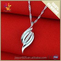 Latest Design Pendant Wholesale,Woman 925 Sterling Silver Zircon Charms Pendant,Ladies Design Curve Charms Pendant