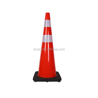 Flexible Roadwork/Worksite safety PVC traffic Cone with black base