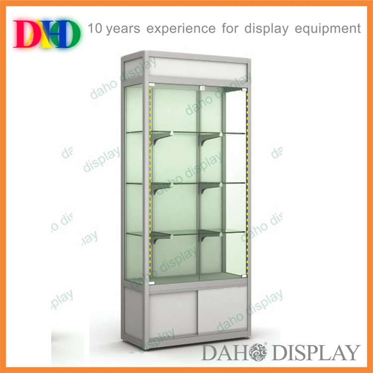 Lockable glass product showcase for showroom