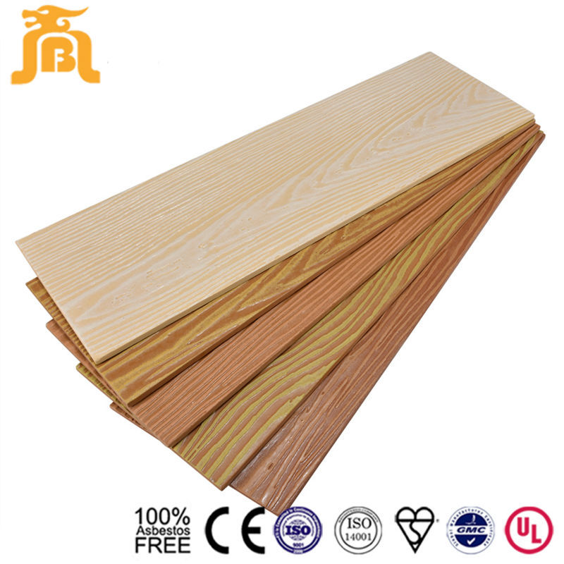Weather Resistant House Exterior Wall Wood grain Concrete Plank Siding