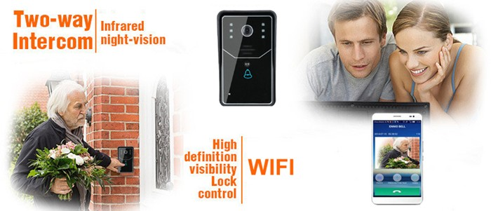 Wireless Home Security Door Doorbell Wireless WiFi Video Visual Doorbell for Phone Tablet PC EU US Plug