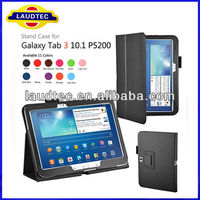 Book Leather Stand Case for Samsung Galaxy Tab 3 P5200 10.1 inch,Magnetic sleep and wake up function ---Laudtec