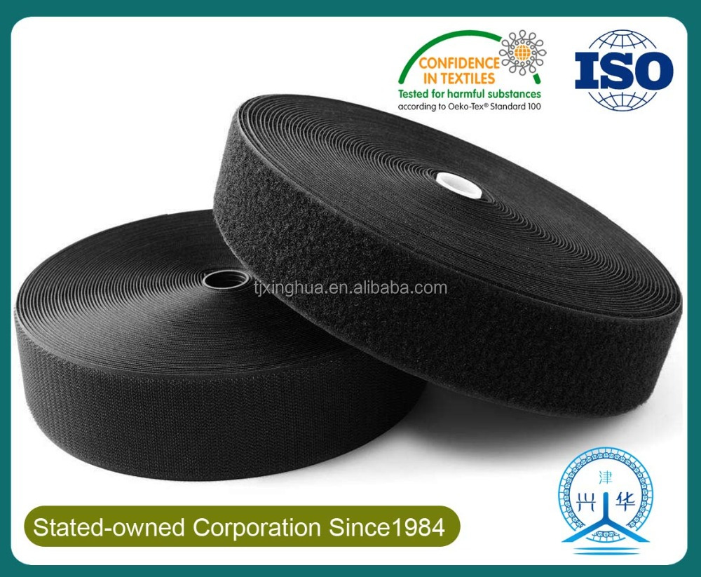 10MM-10MM Various Specification Black/White Hook and Loop Fastener fabric