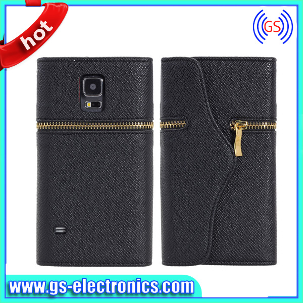simple style high quality luxury oem wallet flip for iphone 5s leather case