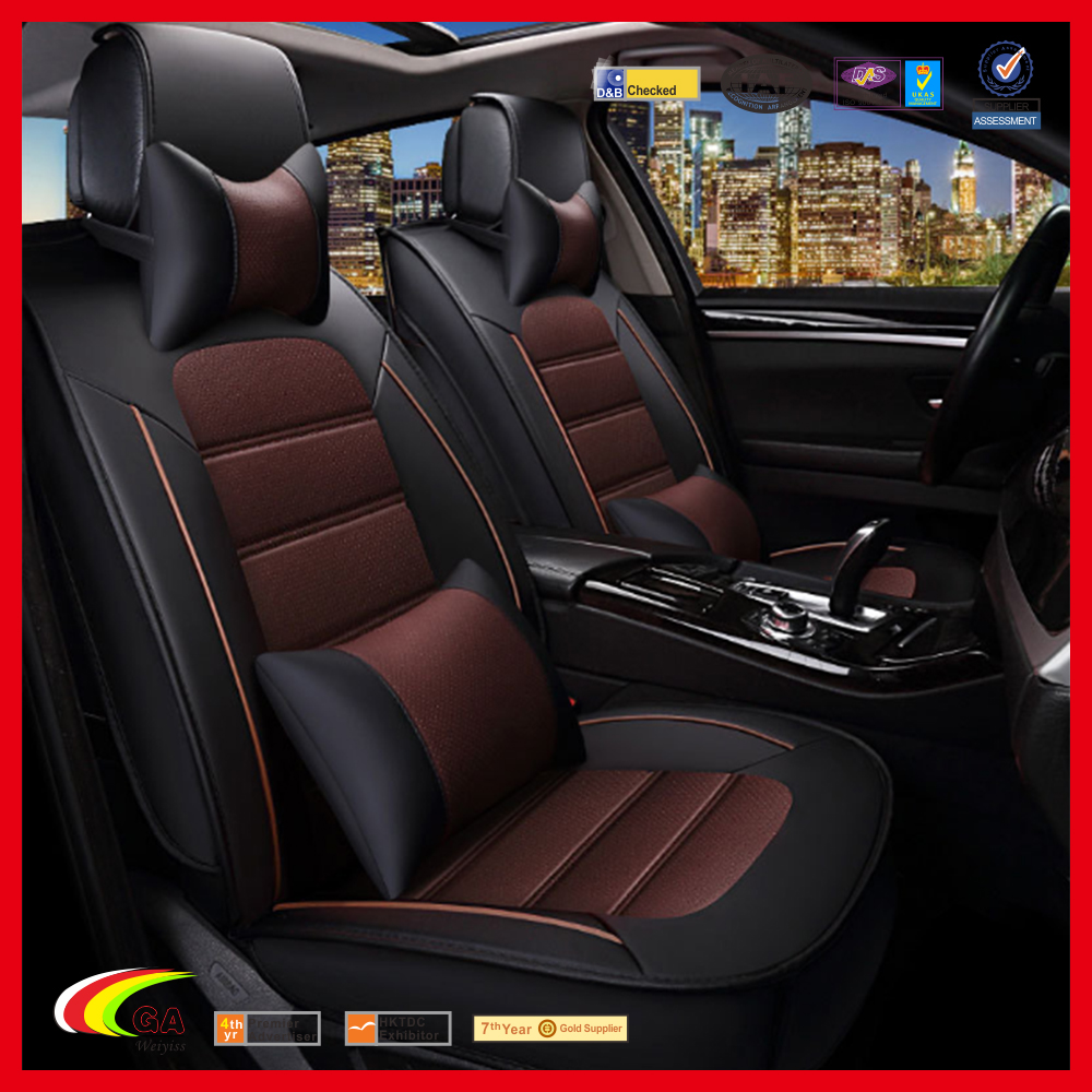 Facroty Custom PU Leather Automotive Universal Seat Covers Set with Composite Sponge Leather Car Seat Cover