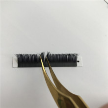 Private Label Synthetic Hair Material Hand Made Type SOFT Ellipse Falt lashes Jet Black Matte