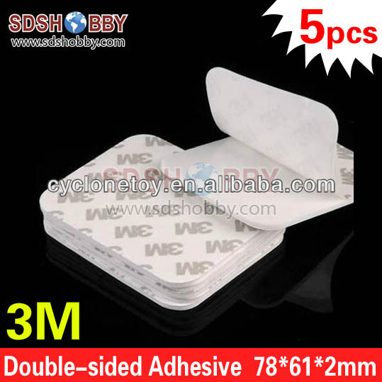 5pcs* 3M Double-sided Adhesive/ Thicken All-purpose Adhesive/ Foam Glue/ Automotive Glue - 78*61*2mm