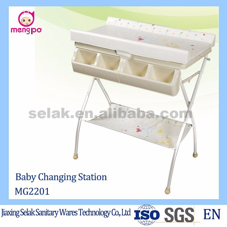 portable freestanding folding baby changing table with bath