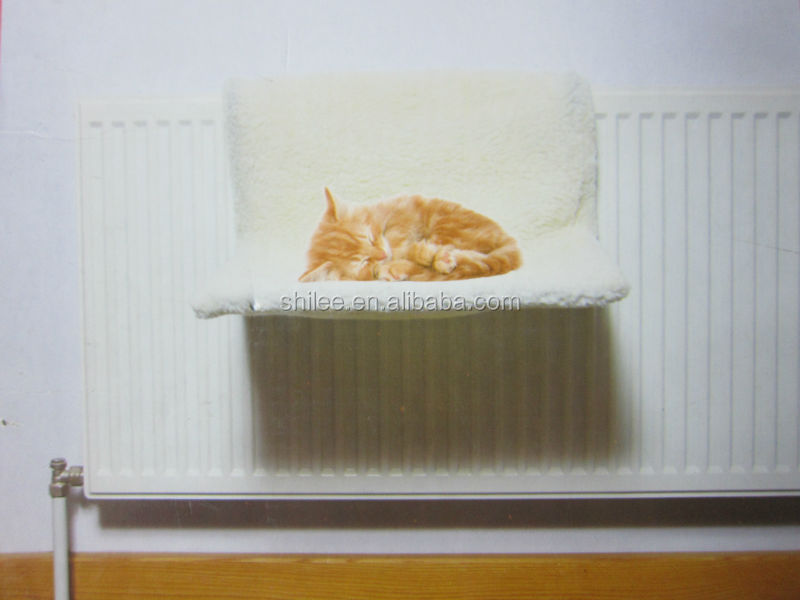 plush radiator pet bed for cat