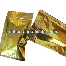 Colorful mini top zipper mylar foil packaging bag different colors available side gu
